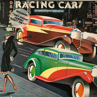 Racing Cars ‎- Downtown Tonight (LP) (VG-/VG-)